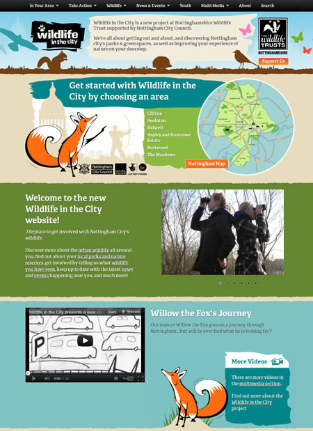 Wildlife in the City website home page