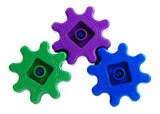 Green wheel in a system of cogs