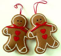 Festive gingerbread people