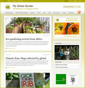 My Global Garden website