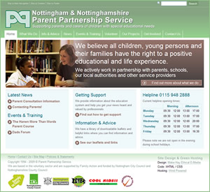 Nottingham and Nottinghamshire Parent Partnership Service