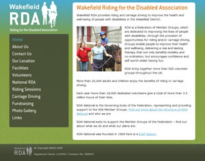 Wakefield Riding for the Disabled website