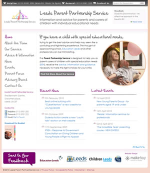 Leeds Parent Partnership Service Website