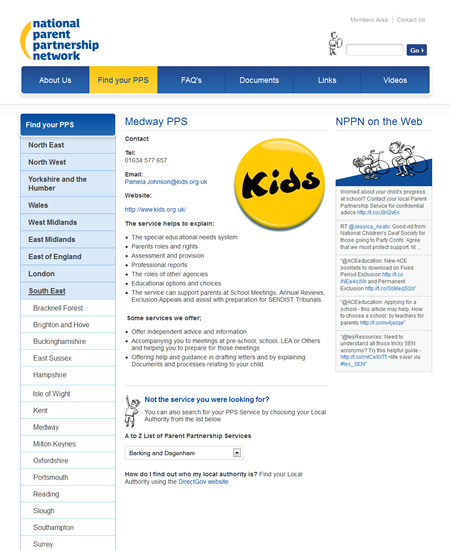 NPPN individual PPS page