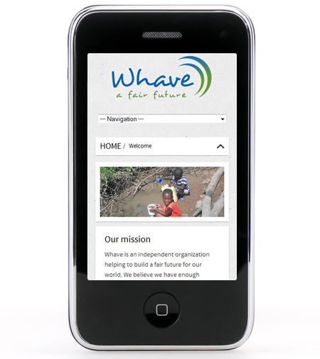 Whave.org on the mobile