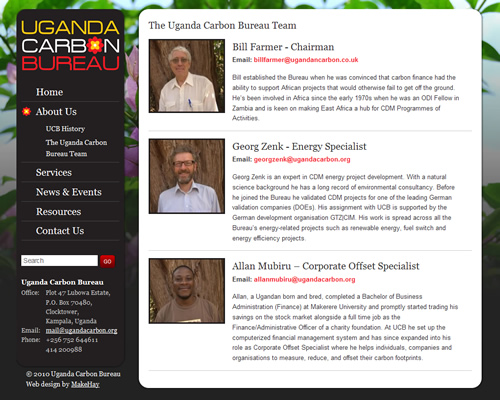 Uganda Carbon Bureau website