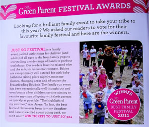 Just So Festival magazine article image