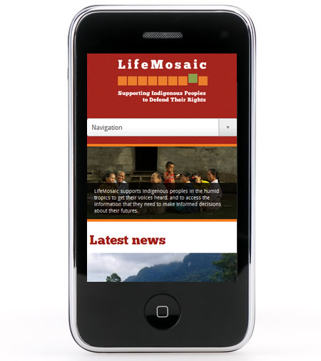 LifeMosaic website responsive for mobile and tablet