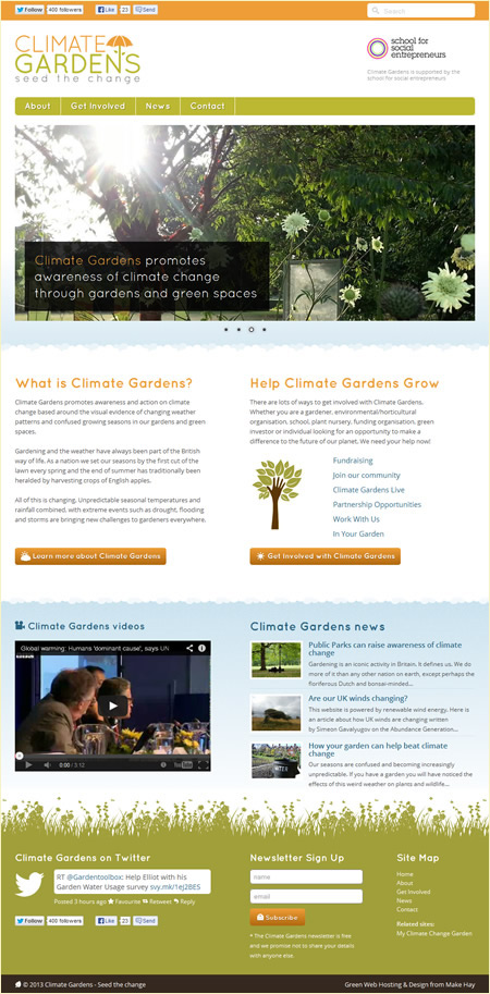 Climate Gardens home page