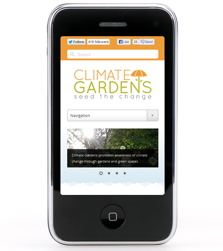 Climate Gardens on mobile