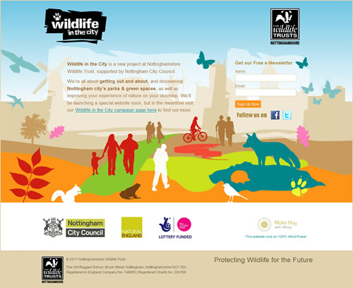 Wildlife in the City Nottingham Website