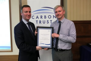 Andy Pooley from Broxtowe collecting his certificate