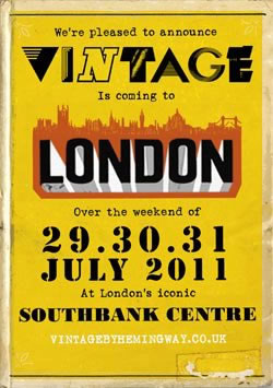 Vintage at Southbank Festival poster