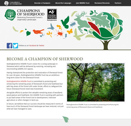 Champions of Sherwood website