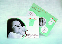 cherrygorgeous baby stationery
