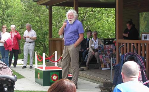 Professor David Bellamy at Foxglove Covert Local Nature Reserve