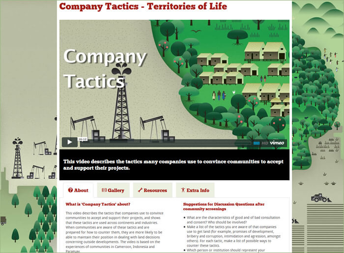 Life Mosaic Territories of Life - Company Tactics