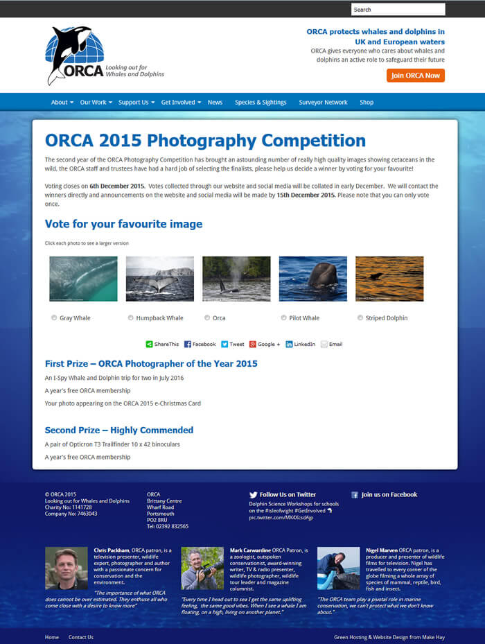 ORCA's online photo competition