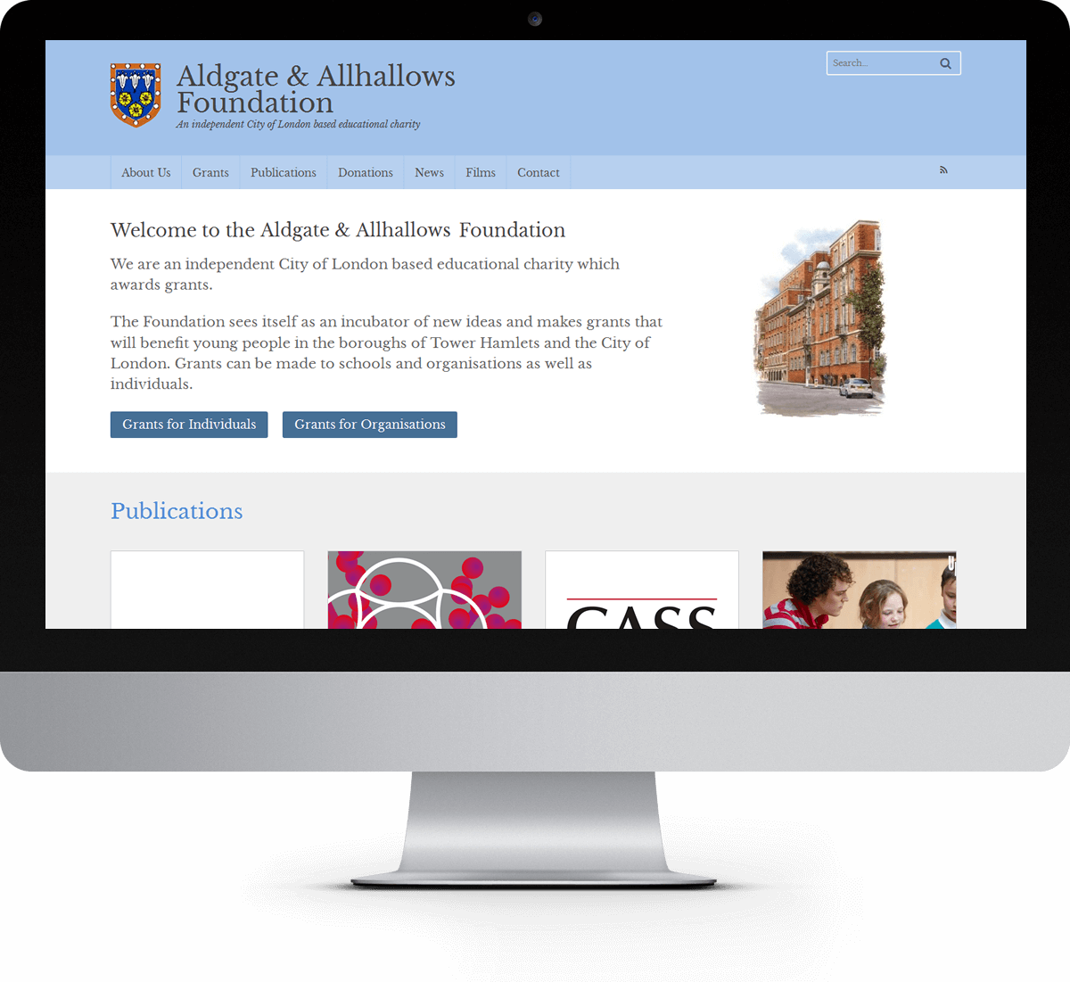 Aldgate and Allhallows Foundation website