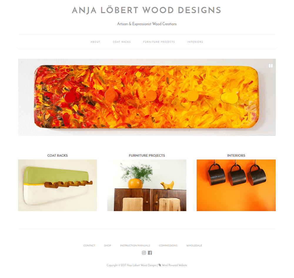 Anja Lobert Wood Designs Anja Lobert Wood Designs home page
