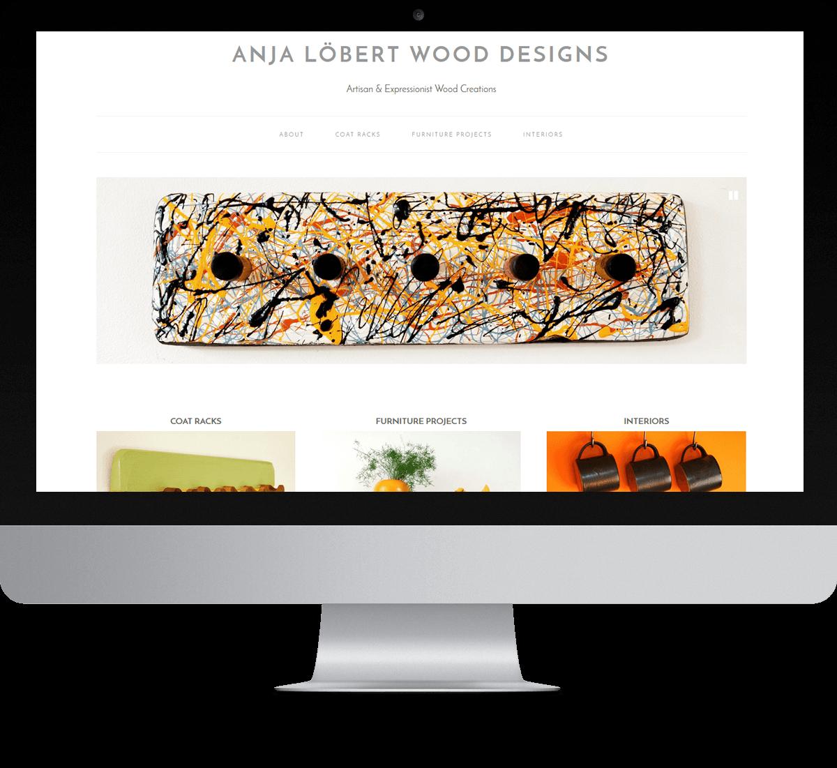 Anja Lobert Wood Designs website