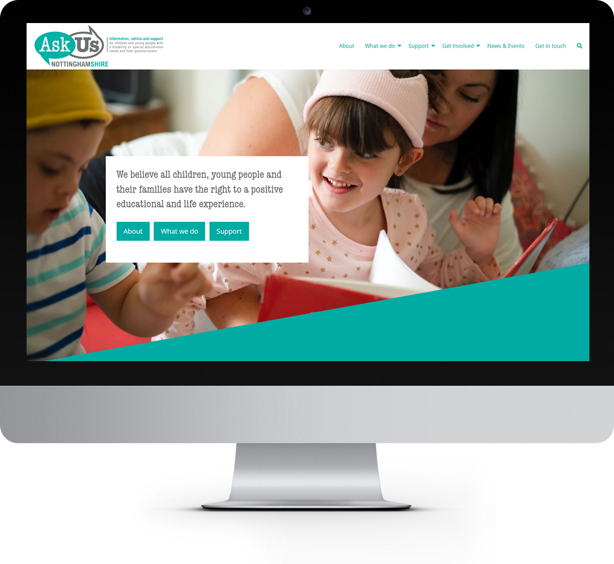 Ask Us Nottinghamshire website home page