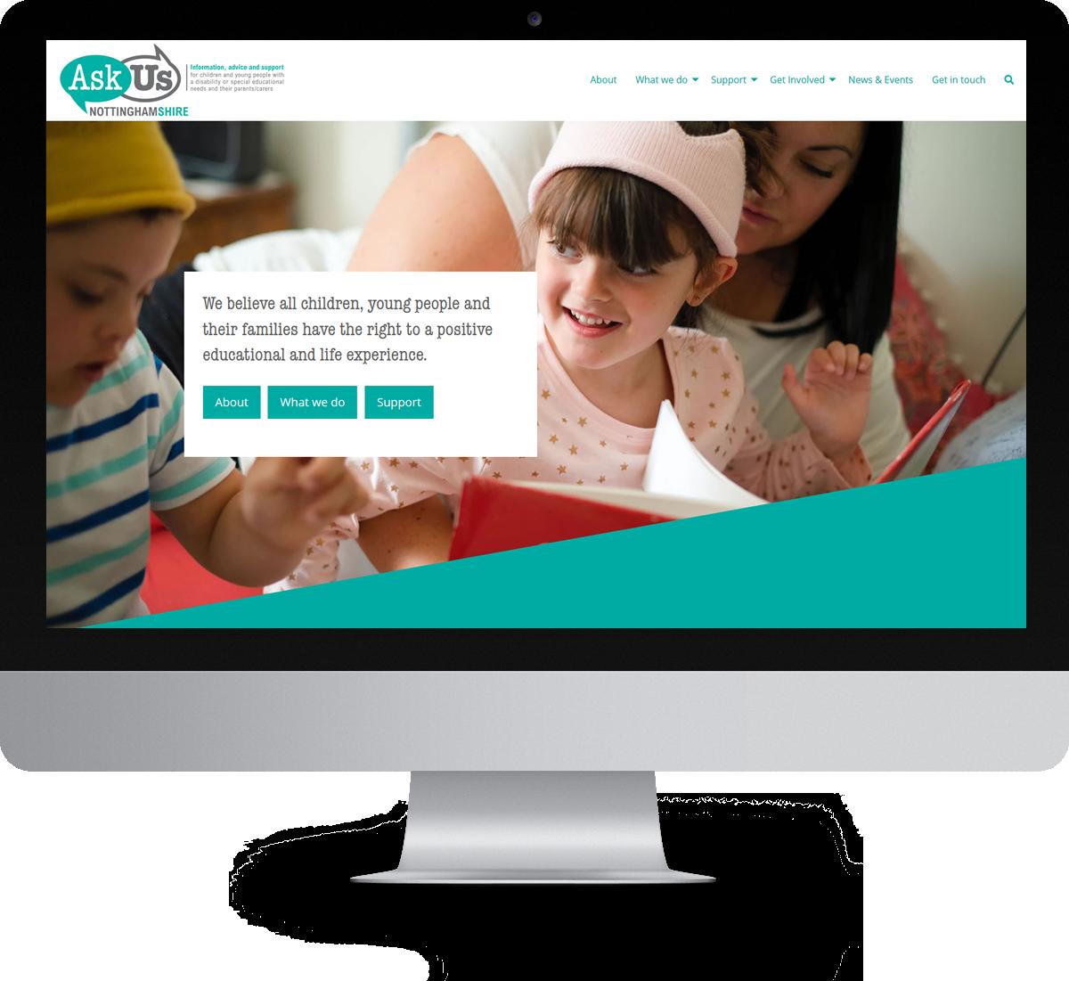 Ask Us Nottinghamshire website