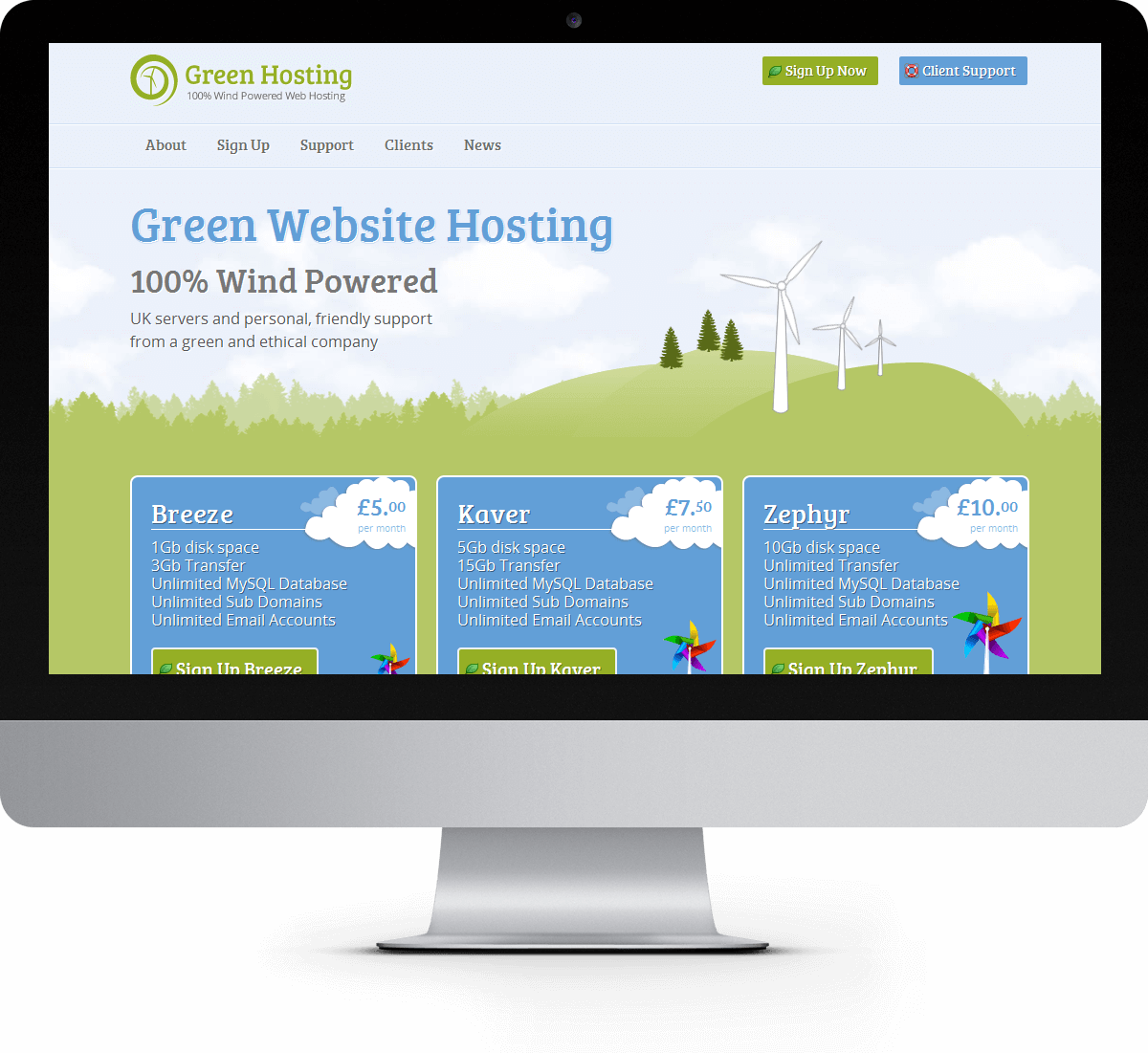 Green Hosting website