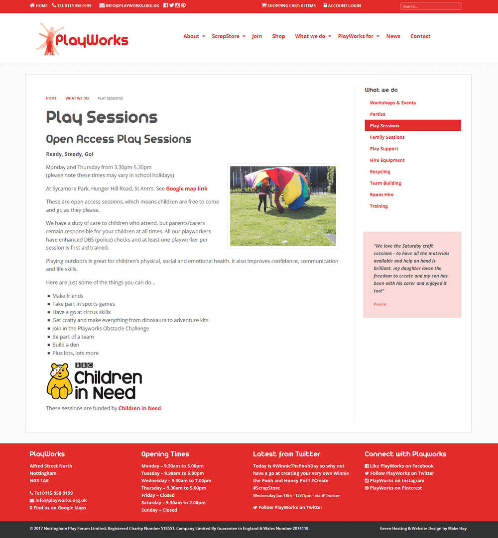 PlayWorks PlayWorks Page
