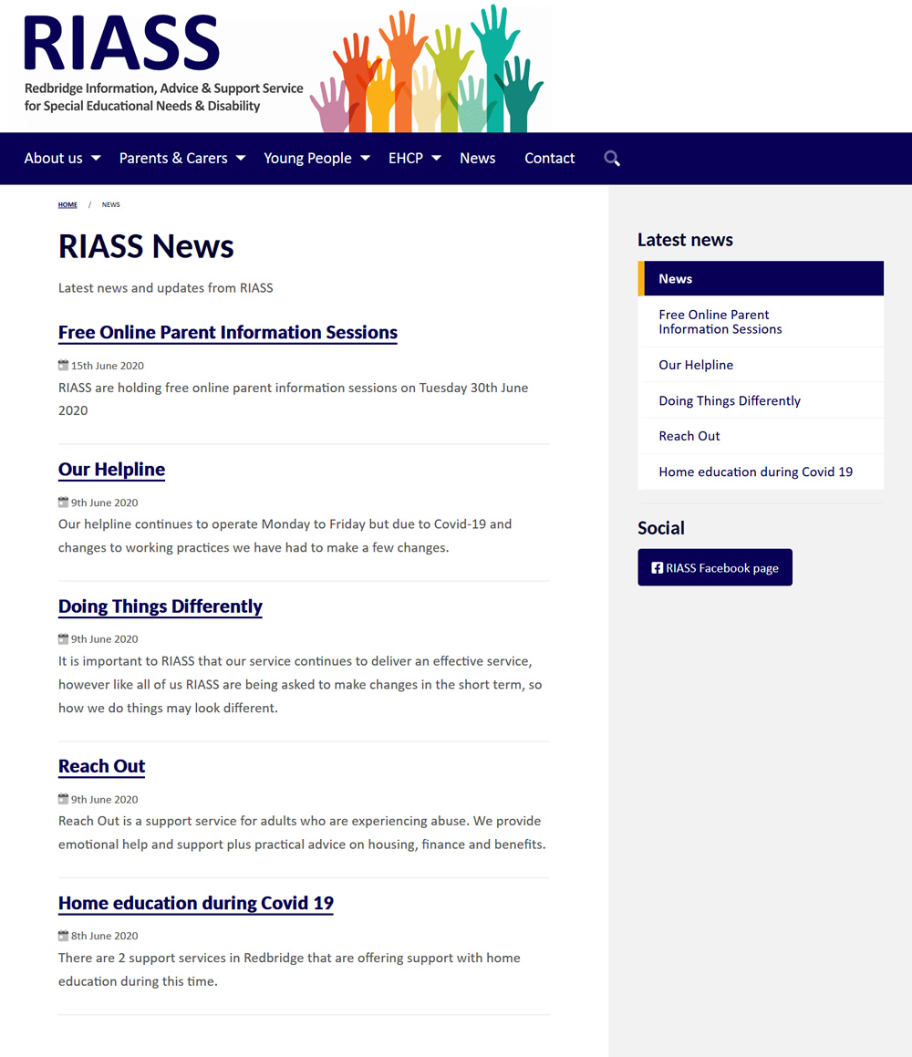RIASS RIASS News Index