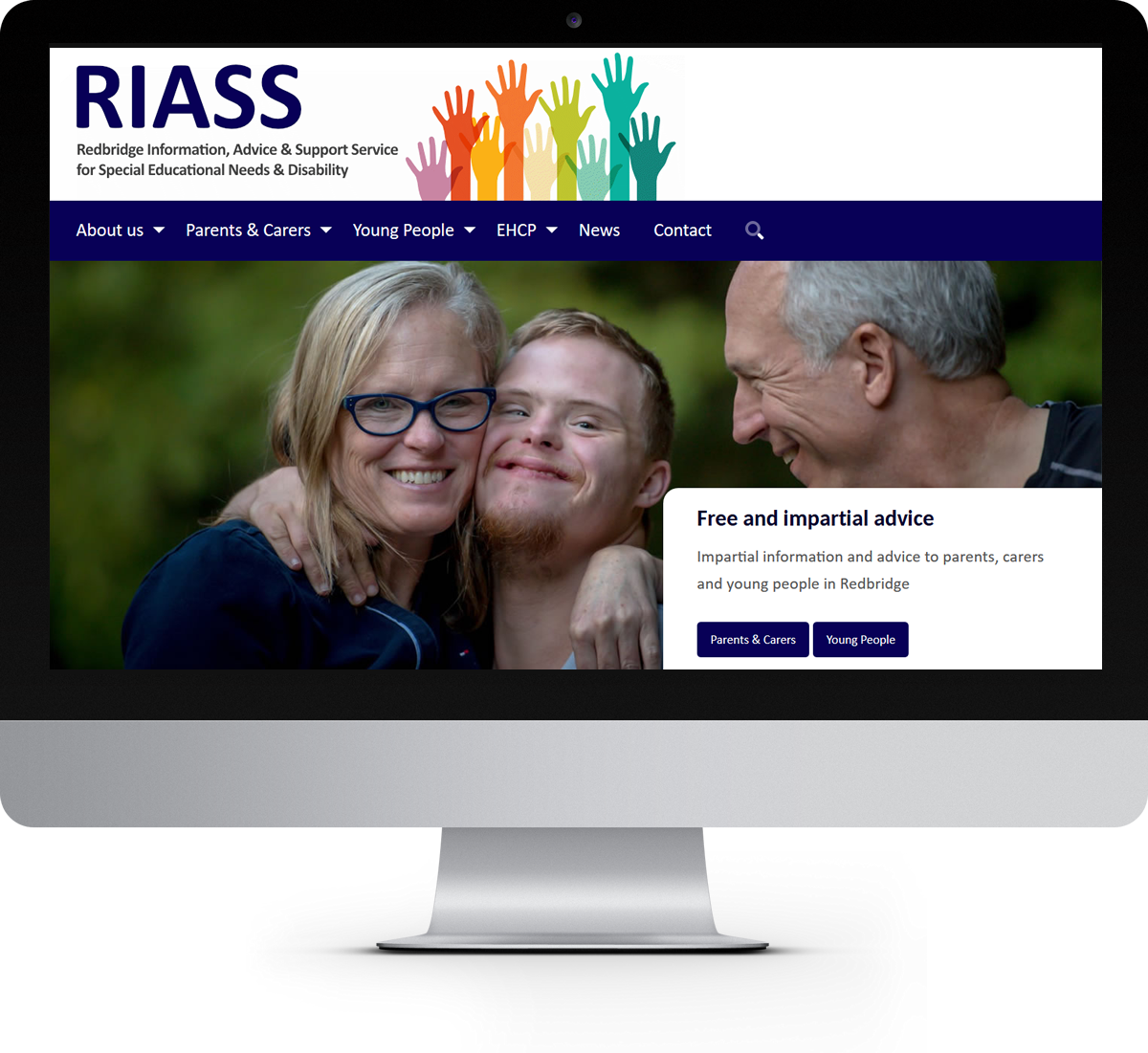 The RIASS website home page