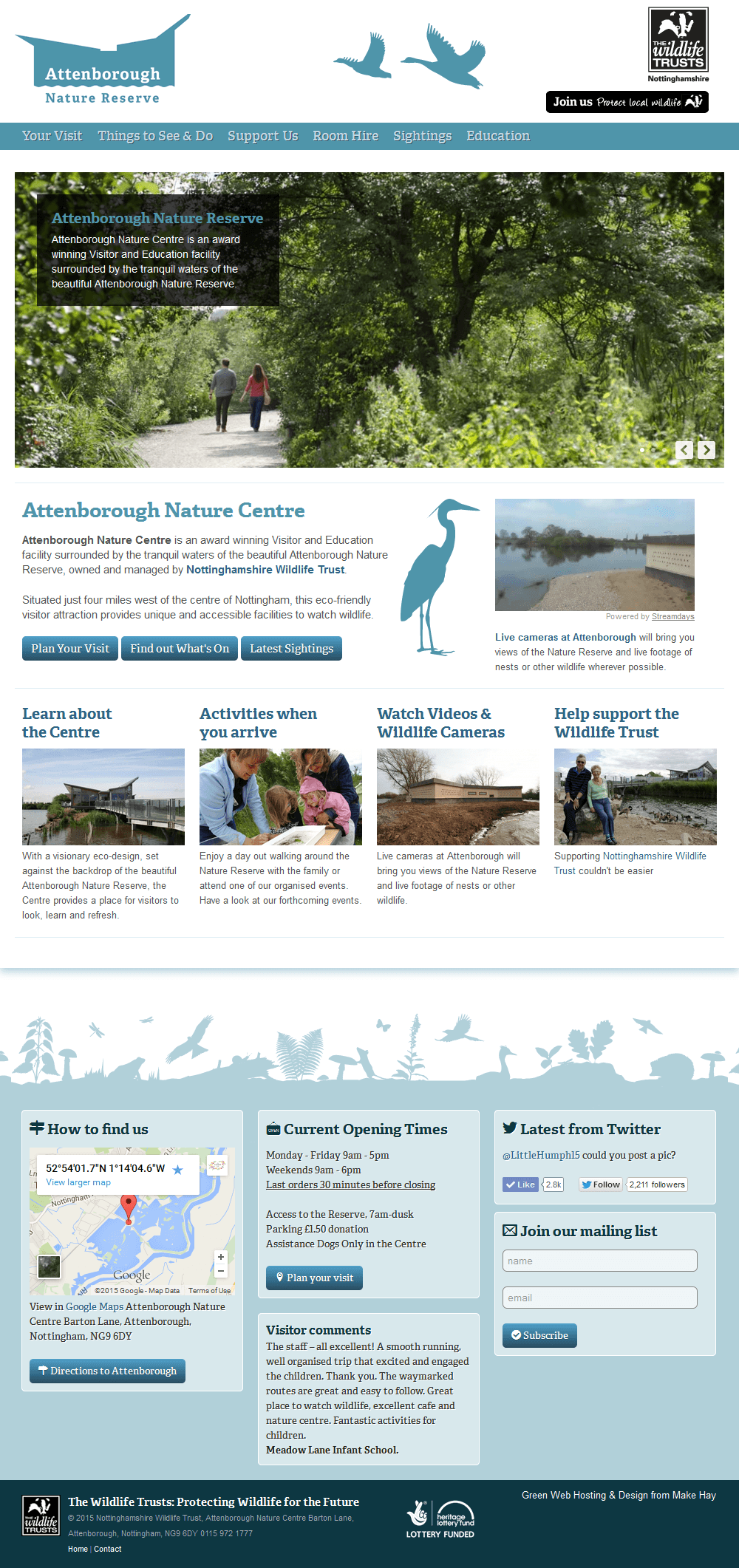 Attenborough Nature Reserve Attenborough Nature Centre Home Page