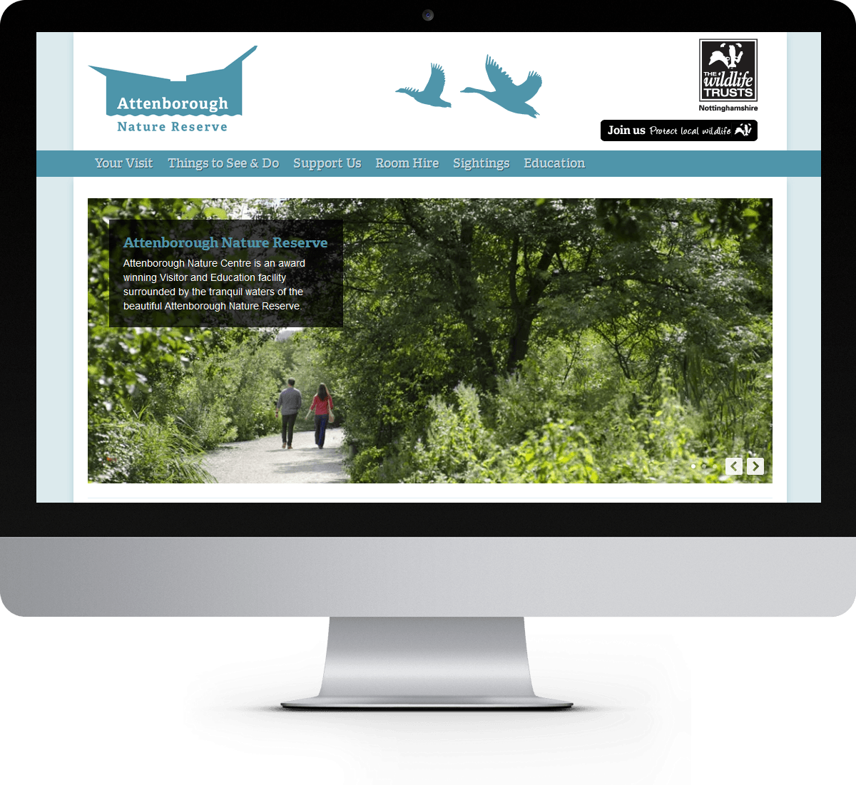 Attenborough Nature Reserve website