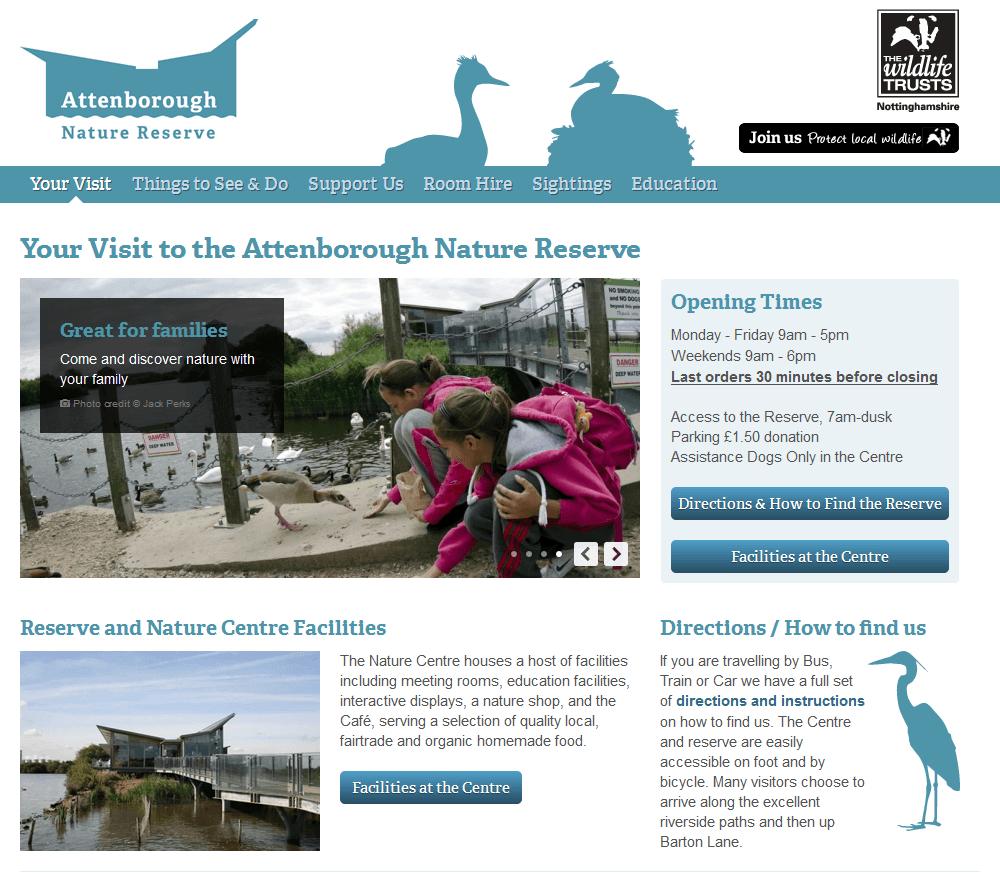 Attenborough Nature Reserve Your visit to Attenborough Nature Centre