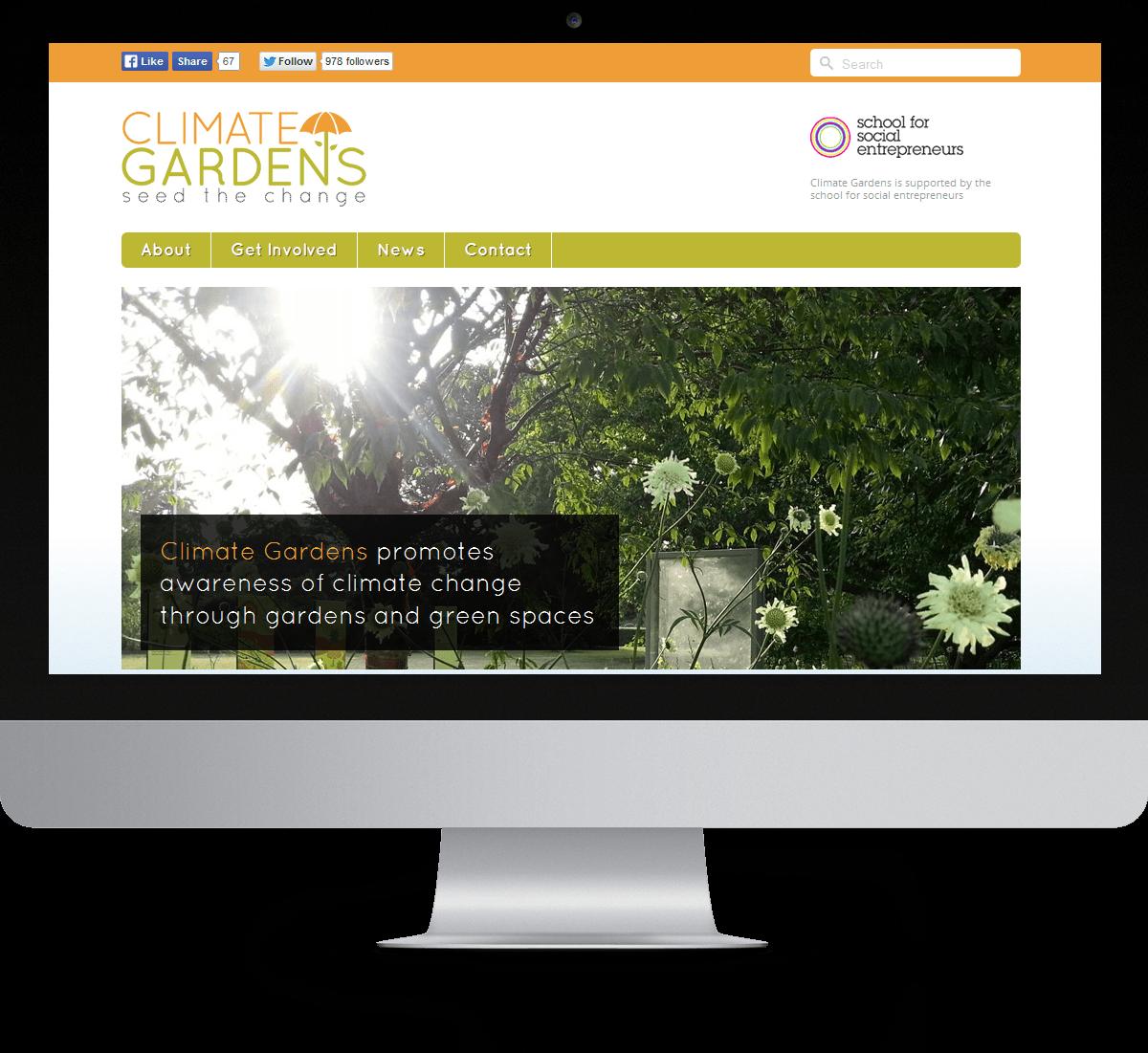 Climate Gardens website