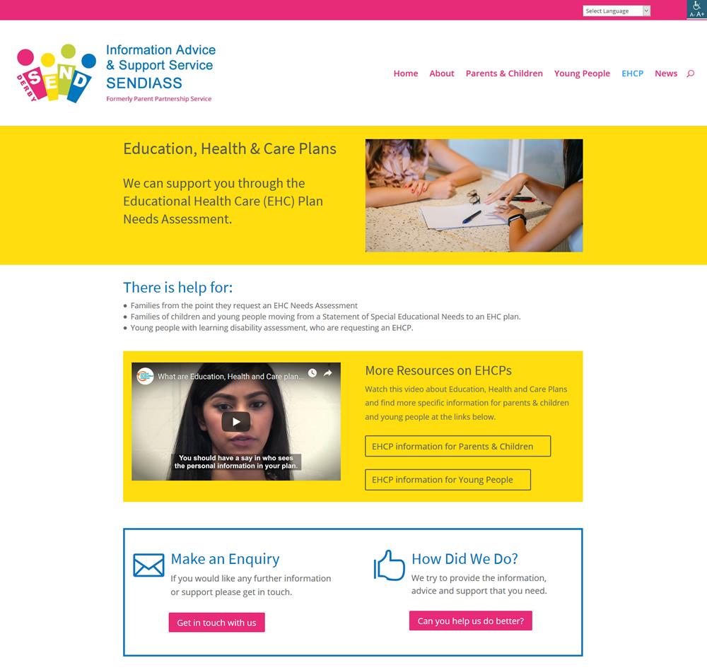 Derby SENDIASS Education, Health & Care Plans