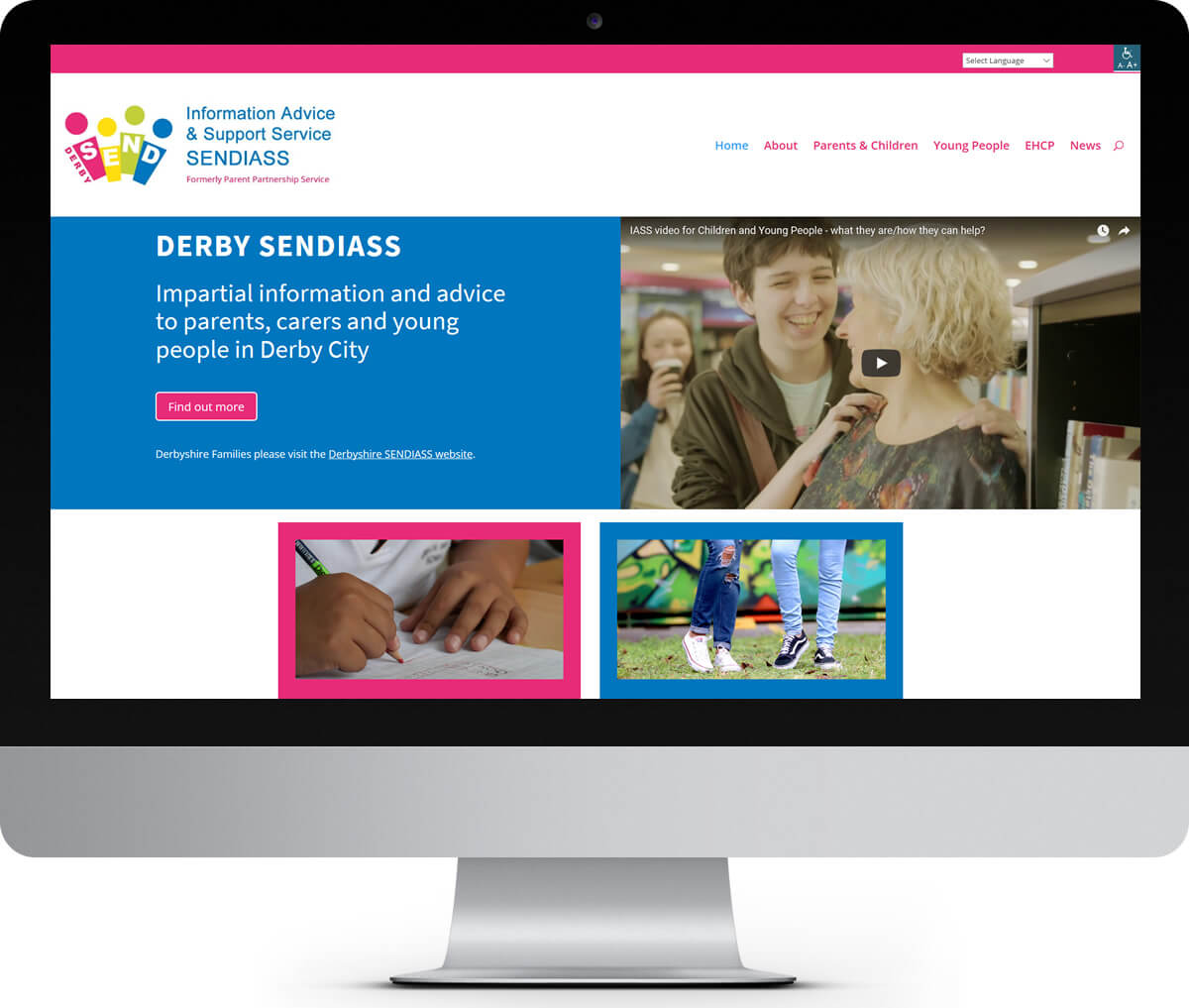 Derby SENDIASS website
