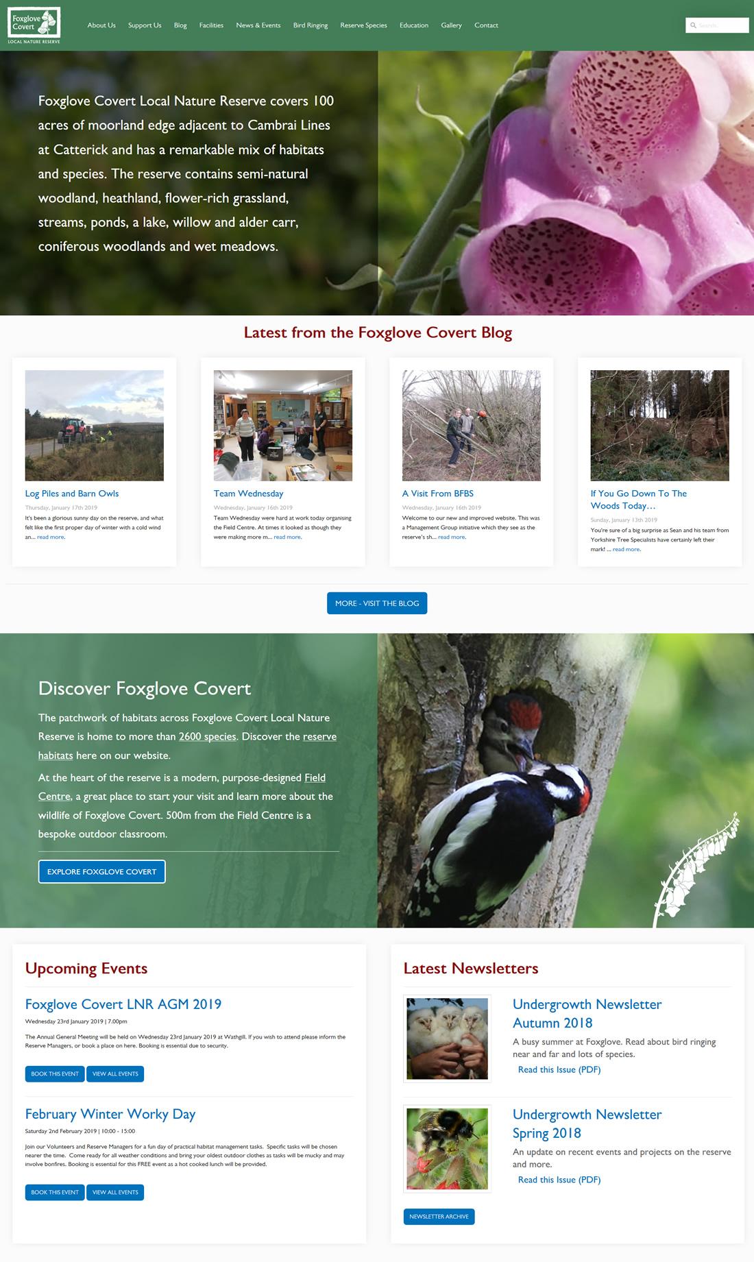 Foxglove Covert LNR The Foxglove Covert Local Nature Reserve home page