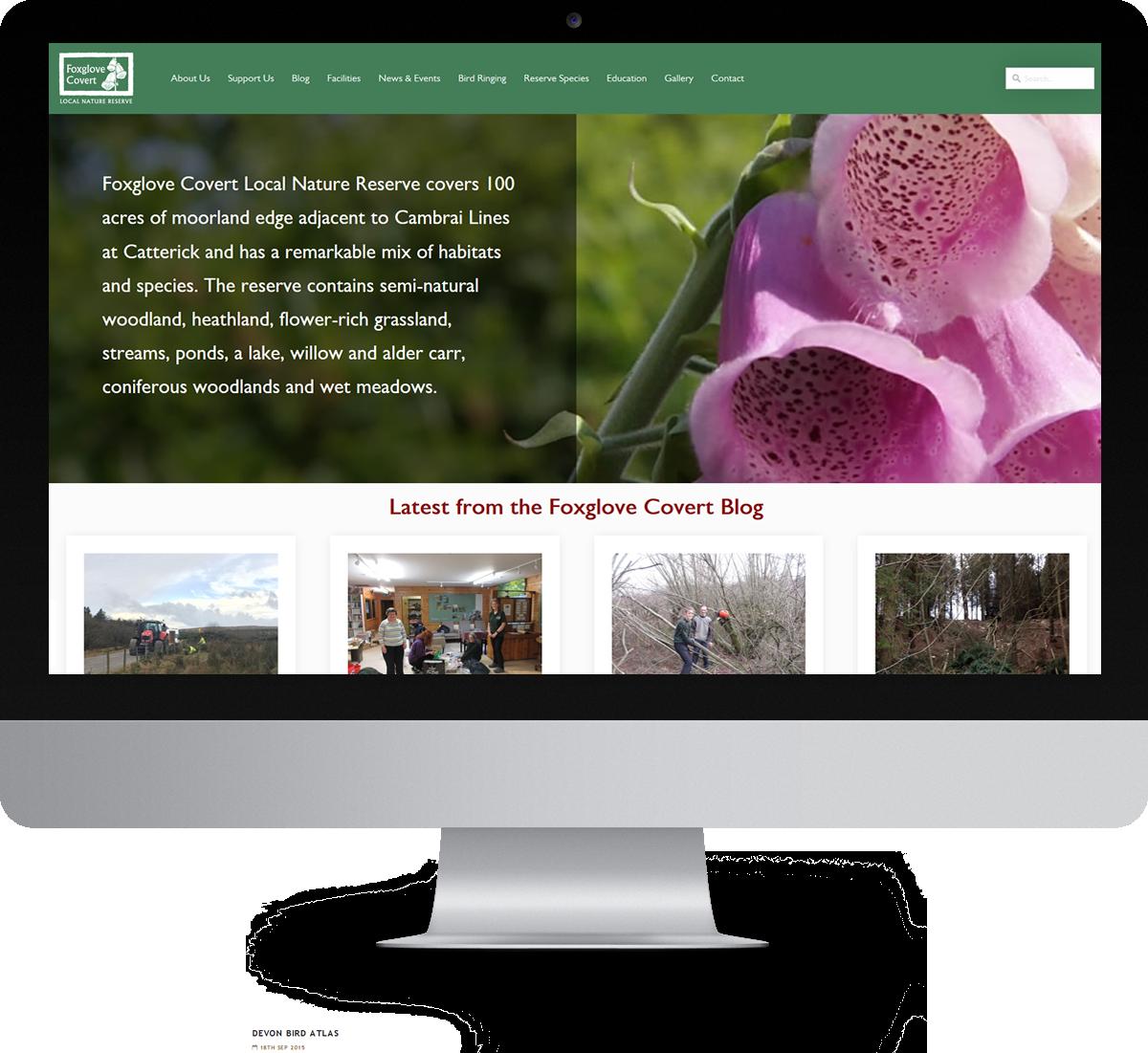 Foxglove Covert LNR website