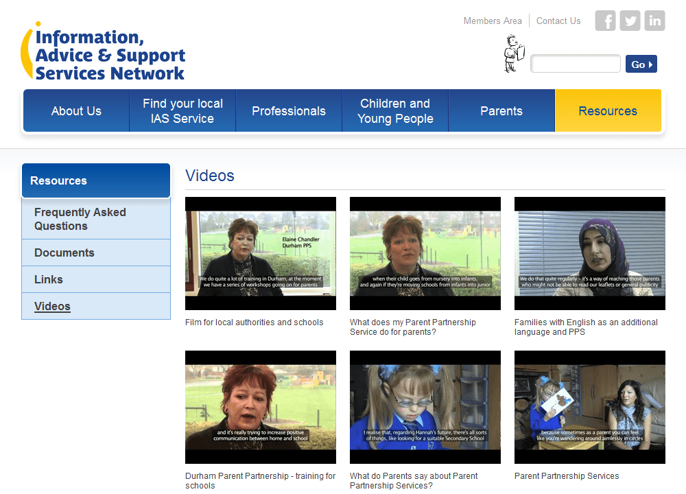 IASS Network A library of videos about the services provided