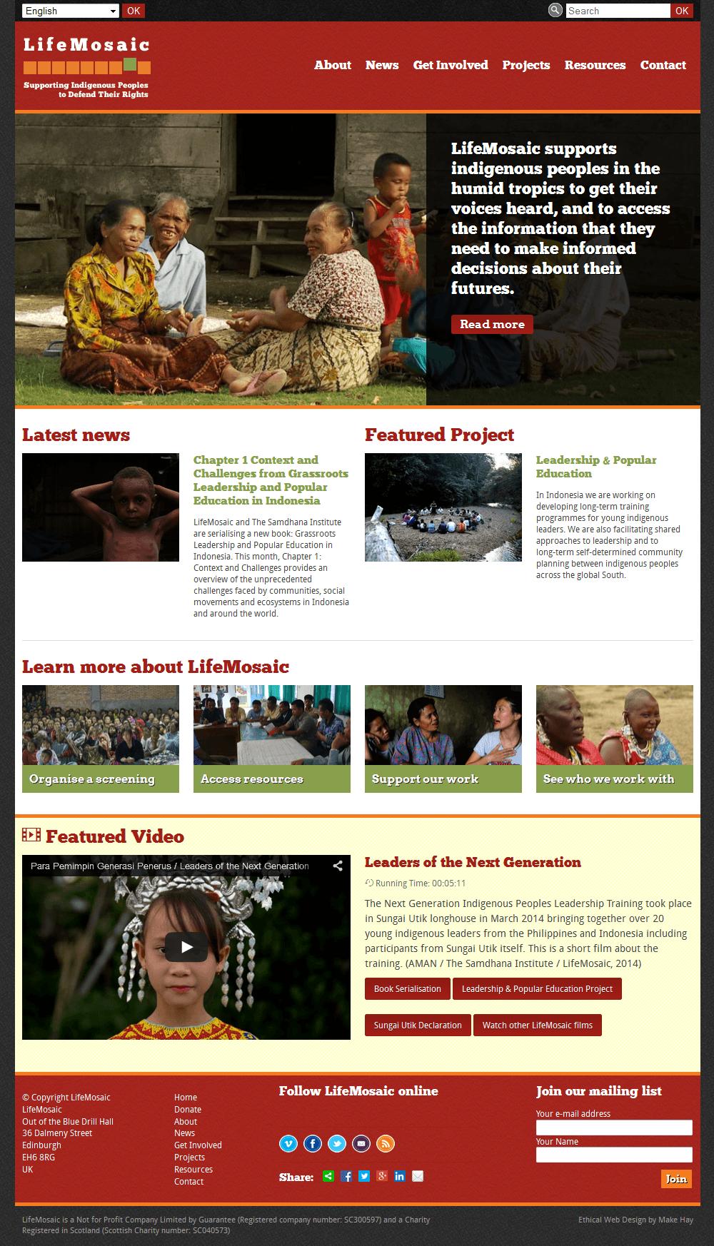 LifeMosaic LifeMosaic Home Page
