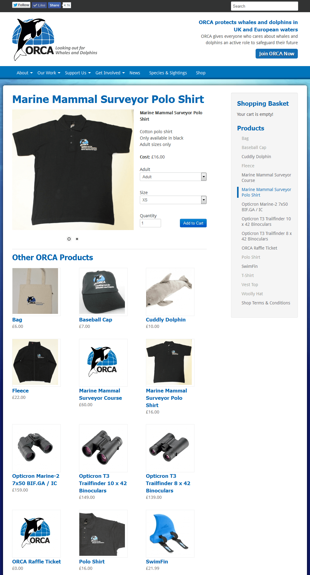 ORCA - Protecting Whales and Dolphins ORCA's online shop to sell merchandise to raise funds