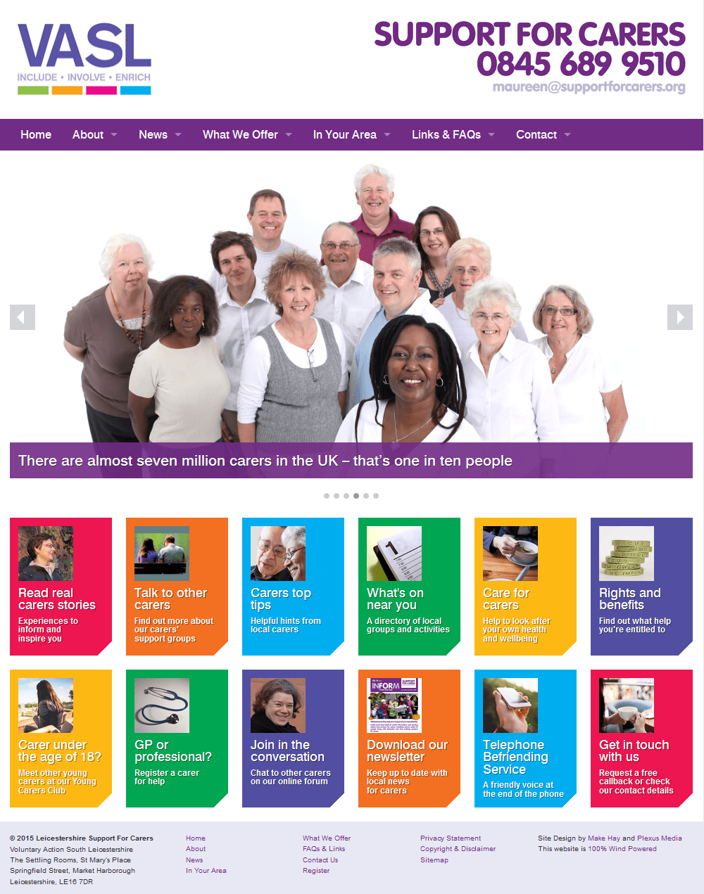 Support for Carers Support for carers home page