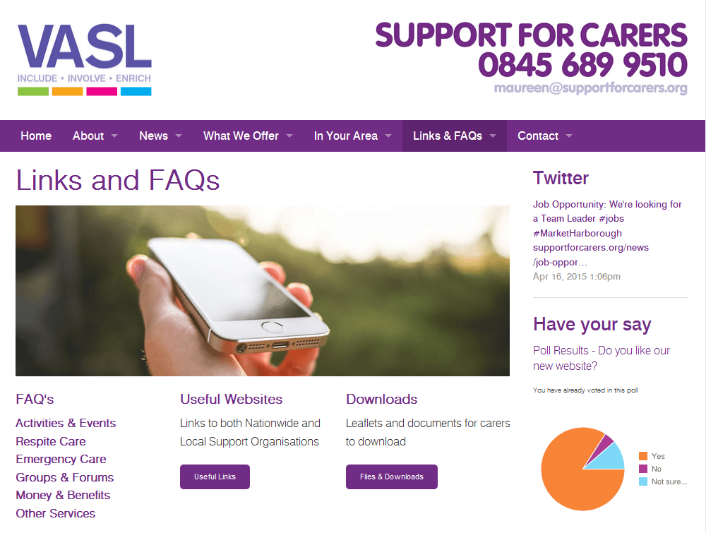 Support for Carers Support for Carers provide links and resources for visitors