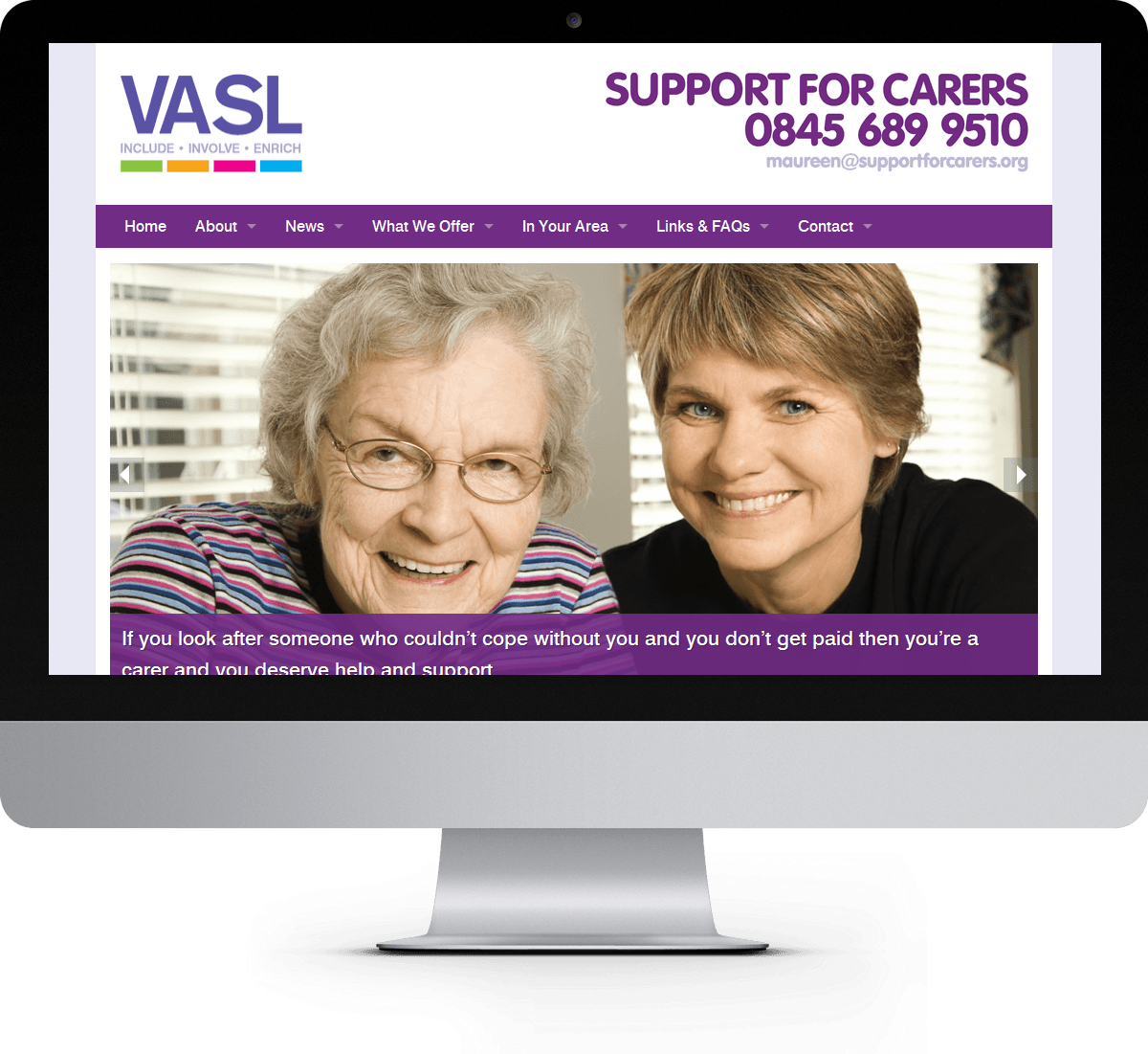 Support for Carers website