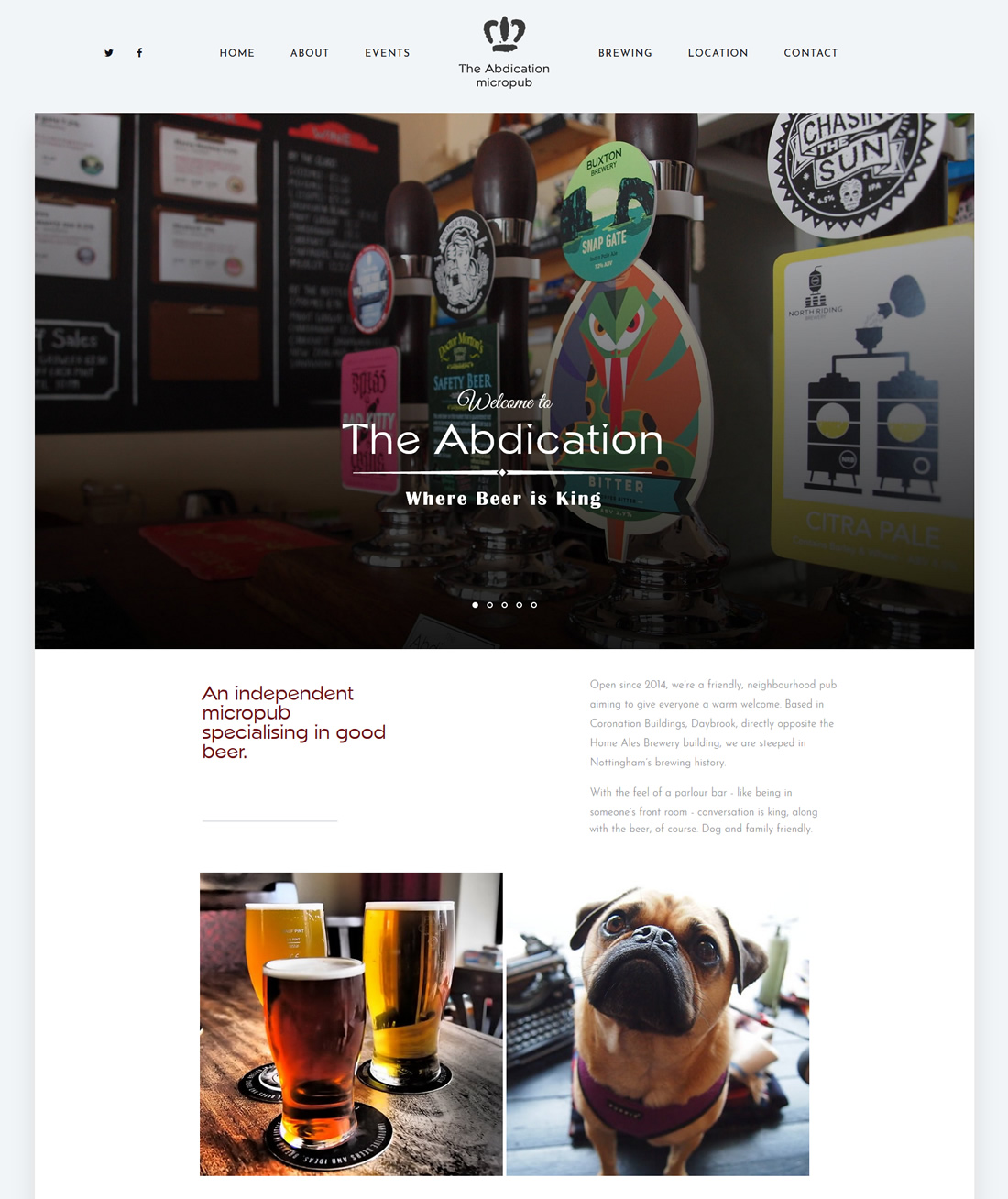The Abdication Micropub The Abdication Home Page
