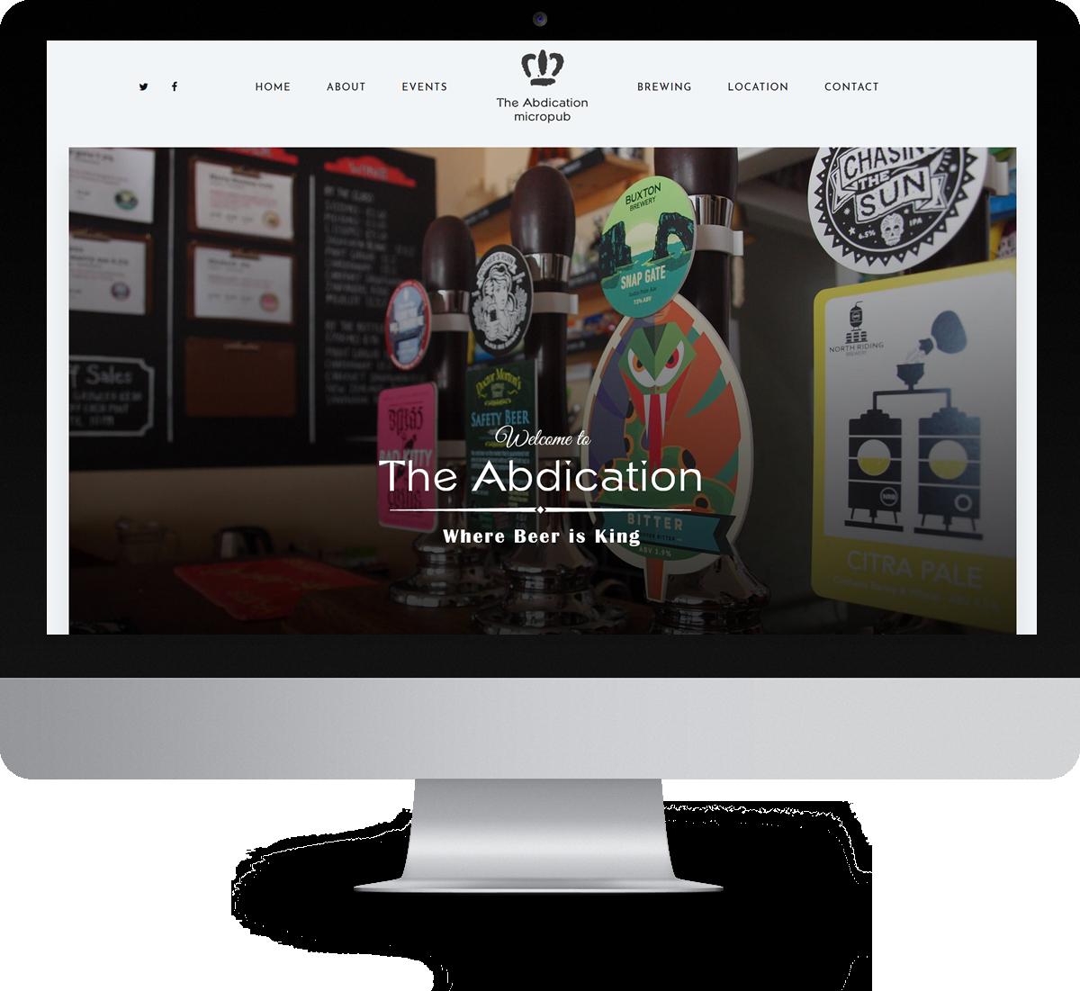 The Abdication Micropub website