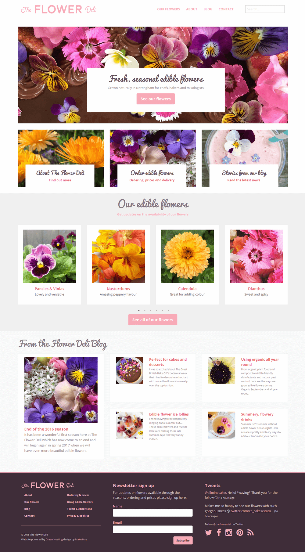 The Flower Deli The Flower Deli home page