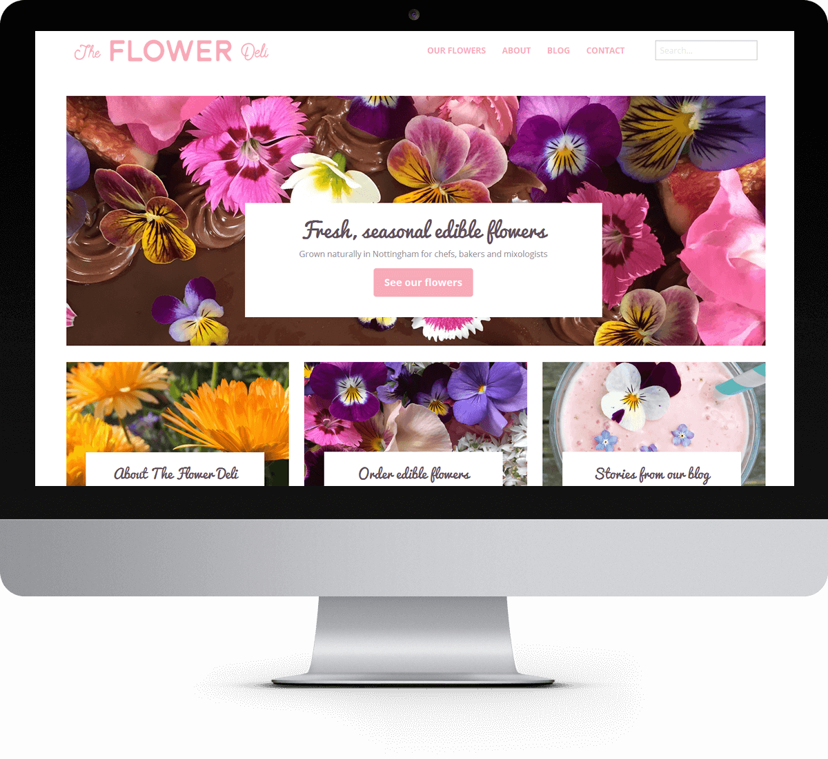 The Flower Deli website
